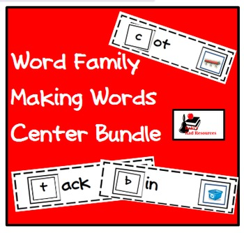 Bundle - Word Family Making Words Centers - 41 Literacy Centers