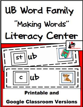 Word Family Making Words Literacy Center - UB Family