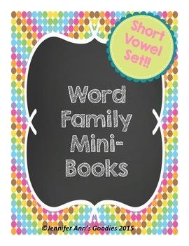 Word Family Mini-Books: Short Vowels Set BUNDLE!!