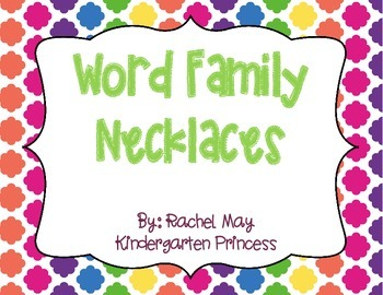 Word Family Necklaces