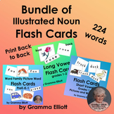Bundle of Flash Cards for 224 Words with Pictures - Pre K-