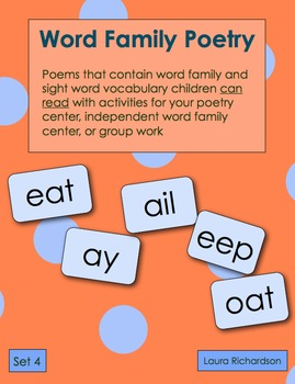 Word Family Poetry - Poems For Your Poetry Center, Set 4 -