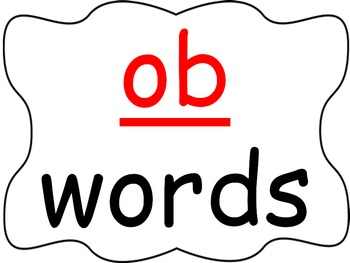 Word Family PowerPoint -ob