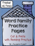 -all Freebie! Word Family Cut, Paste & Read Practice: -all Family