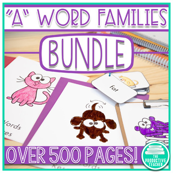 Word Family Practice -a Words (6 Sets -ag, am, an, ap, ar, at)