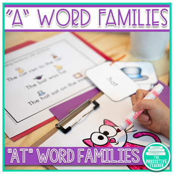 Word Family Practice -at Words