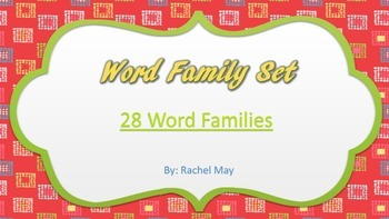 Word Family Puzzle and Poster Set