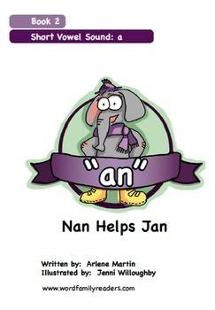 Word Family Readers Book #2 Nan Helps Jan