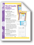 Word Family Riddles (Word Families -udge, -ight, -ound,-ore)
