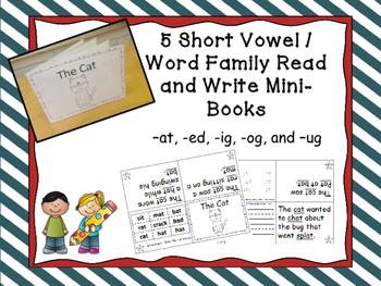 Word Family / Short Vowel Printable Mini Books Bundle  (-a