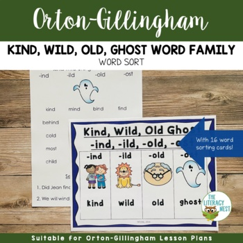Word Family Sort: Kind Wild Old Ghost Words