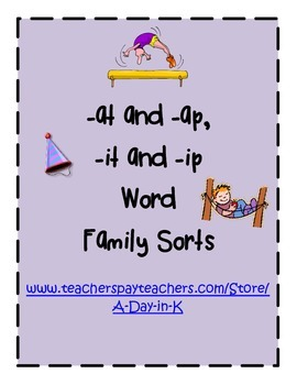 Word Family Sort: -it/-ip and -at/-ap