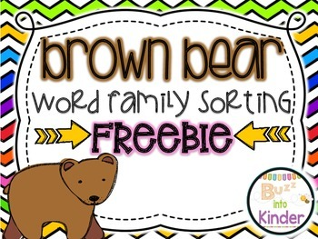 Word Family Sorting with Brown Bear FREEBIE