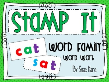 Word Family {Stamp It} Word Work [Reading] Station Center