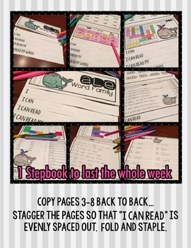 Word Family Step Book - at FREEBIE
