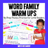 Word Families for Phonics and Reading Practice