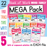 Word Families {Week of Work Booklets}