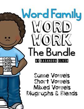 Word Family Word Work Bundle