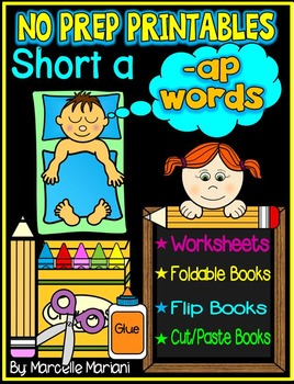 Word Family Word Work- Short A- AP Word Family NO PREP Lit