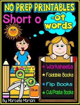 Word Family Word Work- Short O- OT Word Family NO PREP Lit