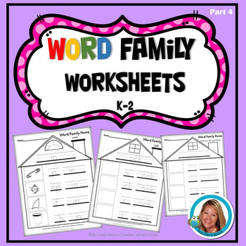 Word Family Practice Worksheets (Part 4)