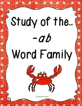 Word Family -ab Study