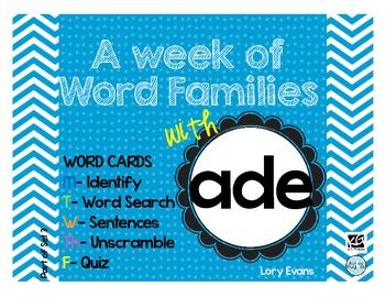 Word Family - ade family