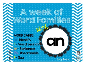 Word Family - an family