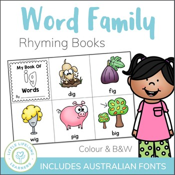 Word Family and Rhyming Word Books - Mini Printable Book