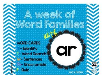 Word Family - ar family