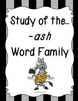 Word Family -ash Study