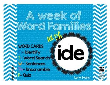 Word Family - ide family