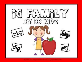 Word Family (ig) Fun Language Arts Activities