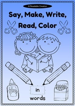 Word Family: -in Activity Sheet and Book