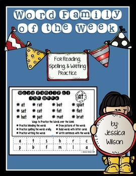 Word Family of the Week Practice