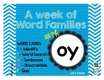 Word Family - oy family