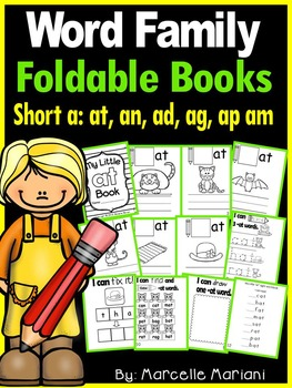 Word Family short a CVC FOLDABLE Mini Books (12 page mini books)