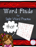 Word Searches: Word Finds for Sight Word Practice