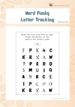 Word Funky Letter Tracking (2nd Grade)