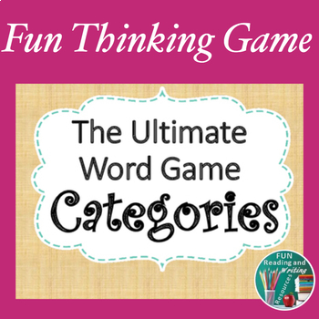 Word Game - Categories