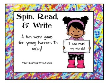 Quick and Easy Literacy Center! ~ Word Game ~ Spin, Read,