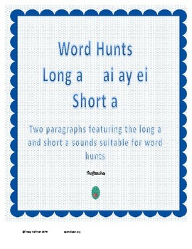 Word Hunt Long A ai ay ei vs Short A