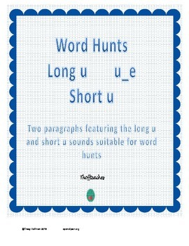 Word Hunt Long U u_e vs Short U