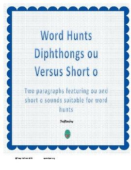 Word Hunt OU vs Short O