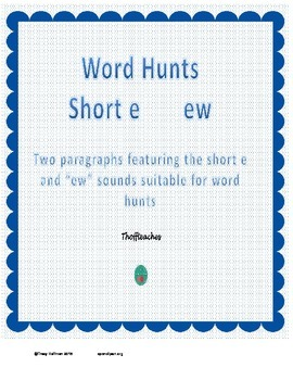 "Word Hunt ""ew"" vs short e"