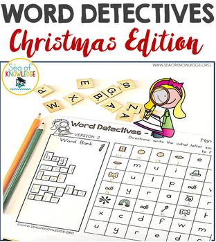 Word Hunts Christmas Vocabulary