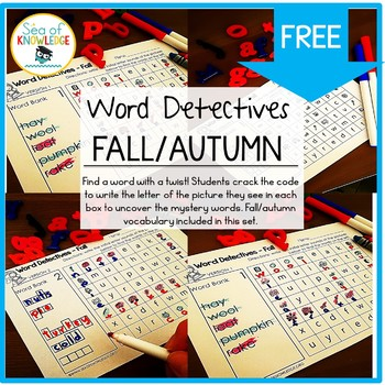 Word Hunts Fall Vocabulary