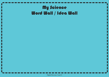 Word-Idea Walls - English, Science, Math, History, Civics,