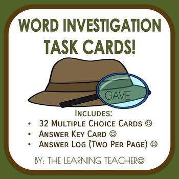 Word Investigation Task Cards