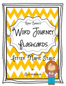 Word Journeys Letter Name Stage Flashcards